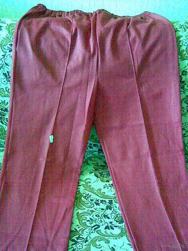 Спортивные брюки (красные). Размер 50-52