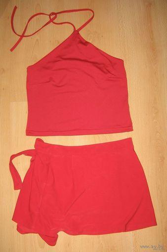 Пляжные топик и юбка на девочку 13-16 лет
