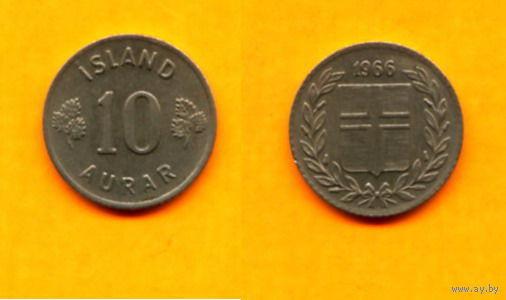 Исландия 10 ЭЙРЕ 1966г.  распродажа