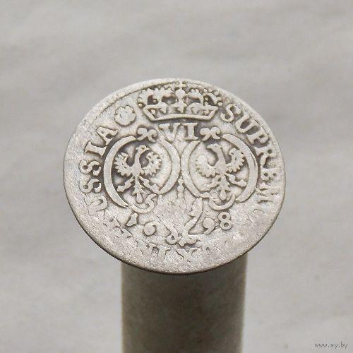 6 грошей 1698 Пруссия Фридрих III