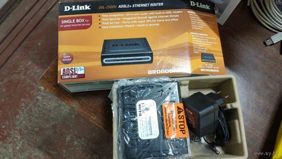 Интернет Роутер. D-Link DSL-2500U ADSL2+ Ethernet Router