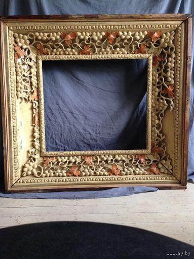 Рама 18 19 век состояние как на фото крепкая для такого состояния