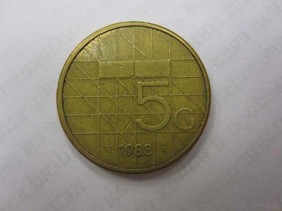 5 Гульденов 1988 (Нидерланды)