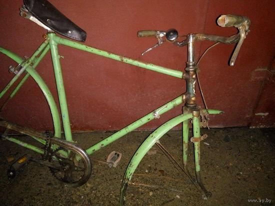 Велосипед винтажный, велосипед