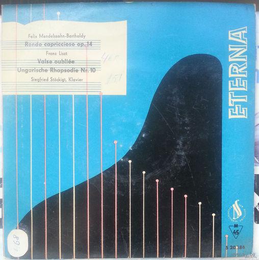 "7"" 45RPM Siegfried Stockig, Klavier - Felix Mendelssohn/Franz Liszt (1964)"