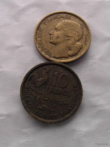 Франция 10 франков 1952г В    распродажа