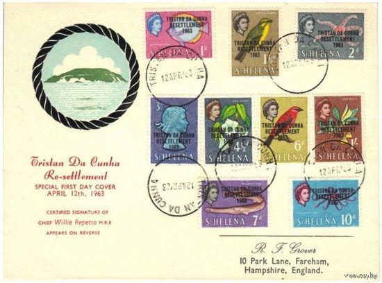 Британские колонии. Остров Тристан Да Кунья. 1963 FDC