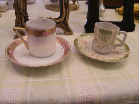 Чашка тарелка для кофе Германия 19 век