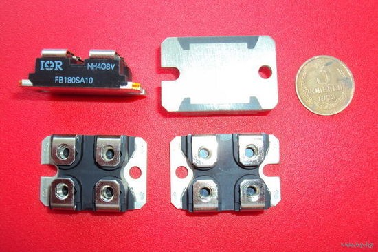 Транзистор   FB180SA10P MOSFET силовой модуль (I=180 A; U=100 V; Rоткр.канала=0,0065 Om)