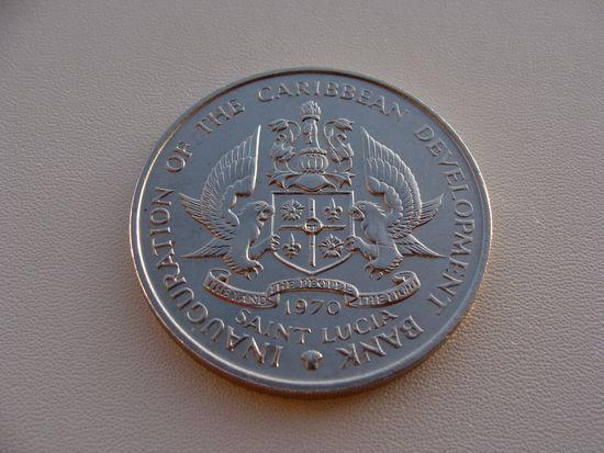 """Сент - Люсия.  4 доллара 1970 год  KM#11  """"Ф.А.О"""""""