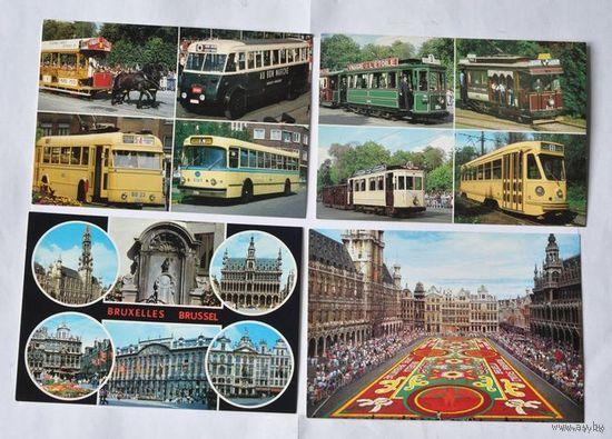 Набор почтовых карточек с видами Брюсселя (18 штук, Бельгия)