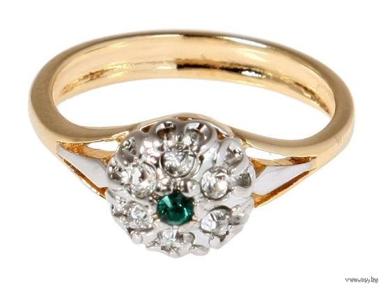 Кольцо Ежевика - позолота и кристаллы Swarovski