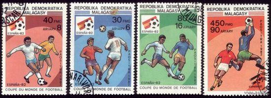 4 марки 1982 год Мадагаскар Футбол