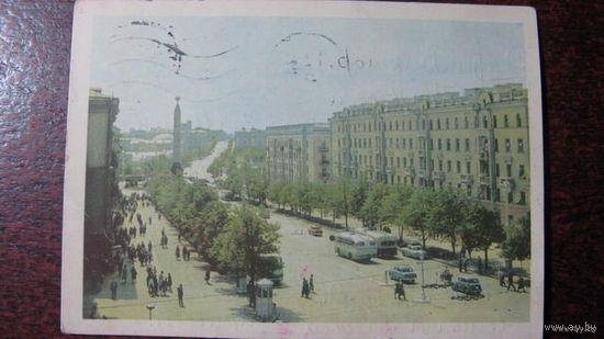 Минск 1968 Ленинский проспект