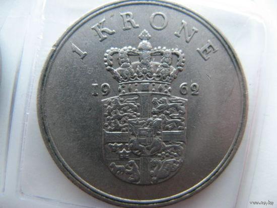 Дания 1 крона 1962г.