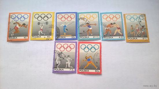 Серия из 8 гашеных марок 50 ЛЕТ ОЛИМП. КОМИТЕТУ