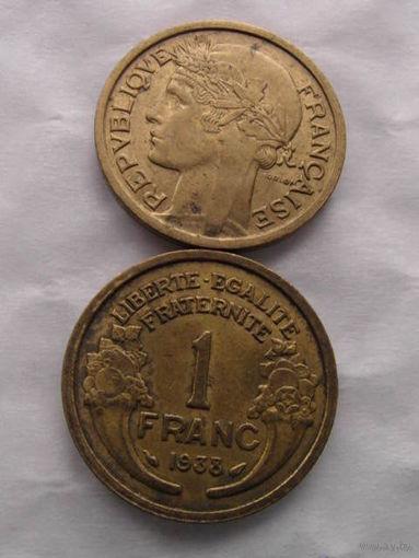 1 франк 1938 Франция  распродажа