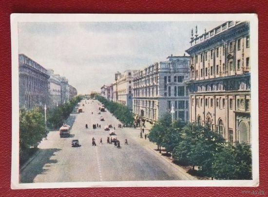 Минск  Проспект Сталина  1956 г