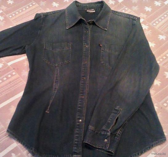 Женская джинсовая рубашка-батник
