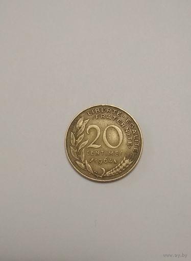 Франция / 20 сантимов / 1964 год