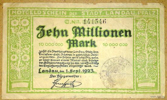 Ландау 10 млн. марок 1923г.