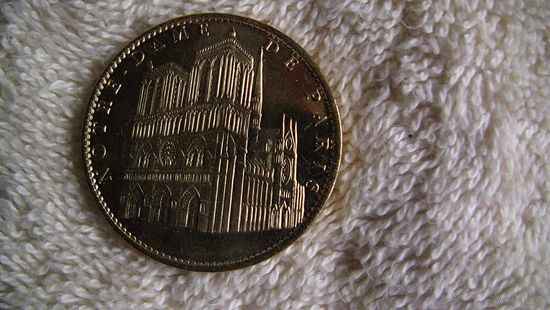 """Сувенирная монета-медаль. """"850 лет Нотердам де Пари. распродажа"""