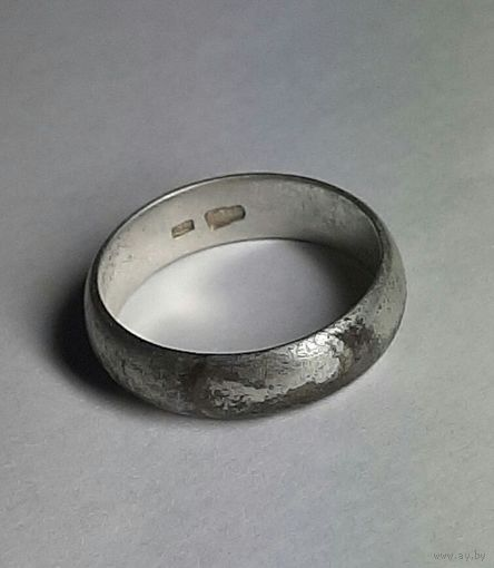 Кольцо серебряное, 875 проба. Голова.