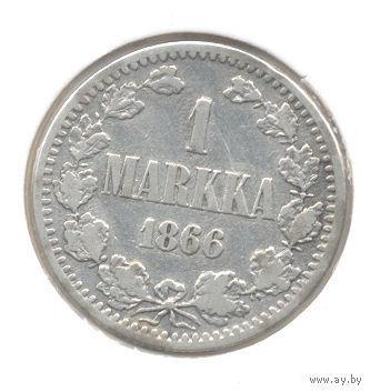 1 марка 1866 S серебро