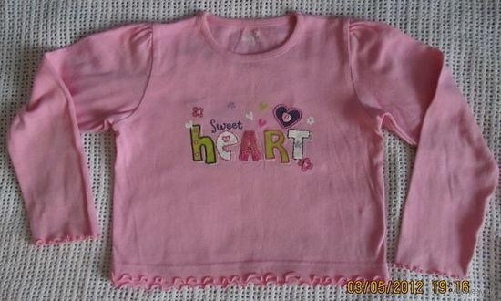 Кофточка для девочки розовая на 6 лет