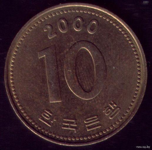 10 Вон 2000 год Ю.Корея