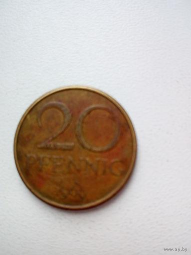 20 пфеннингов 1969г. ГДР