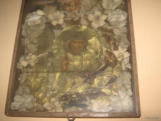 Икона Николай Угодник.Начало20в.43х36 см.,литография.