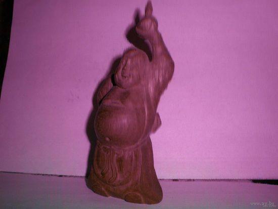"""Статуэтка скульптура деревянная """"Веселый монах"""""""
