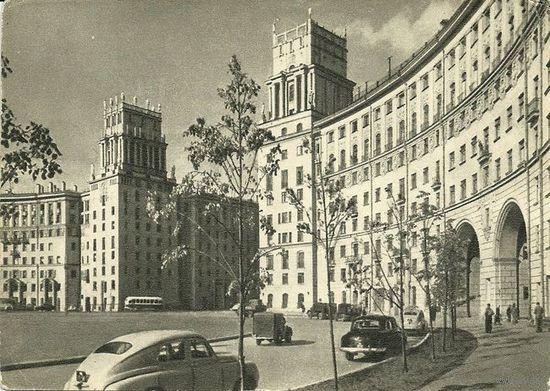 ПК Въезд на Большую Калужскую улицу 1955г.