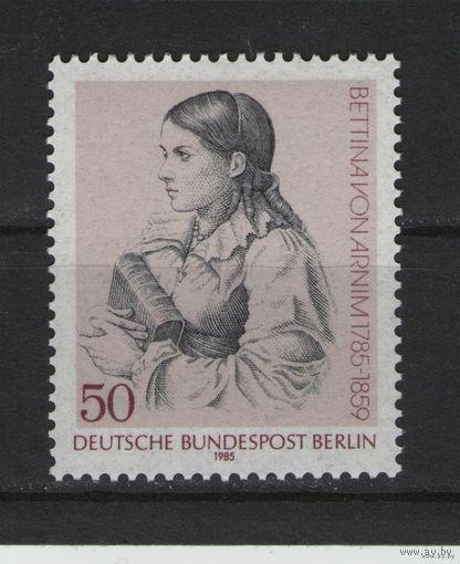 Западный Берлин 1985г. Mi N 730** 200 лет с.д.р Беттины фон Арним, немецкая писательница и одна из основных представительниц романтизма