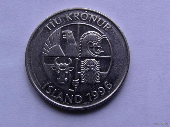 Исландия 10 крон 1996г    рыбы     распродажа