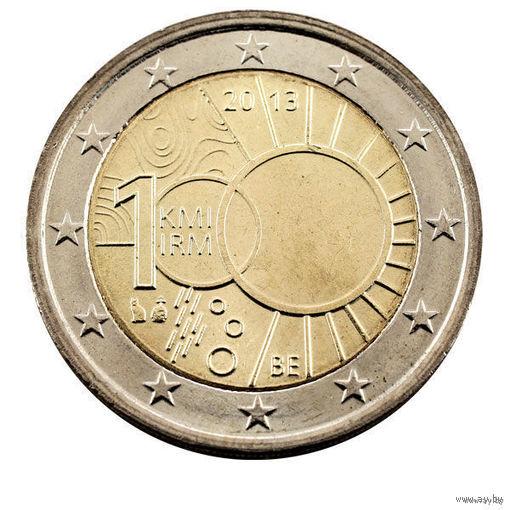 2 евро 2013 Бельгия Метеорологический институт UNC из ролла