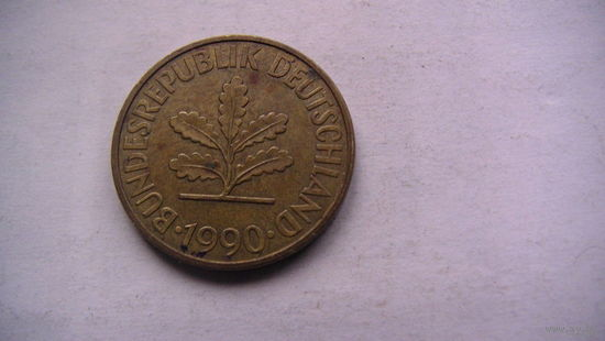 10 пфенингов фрг 1990г (J)   распродажа
