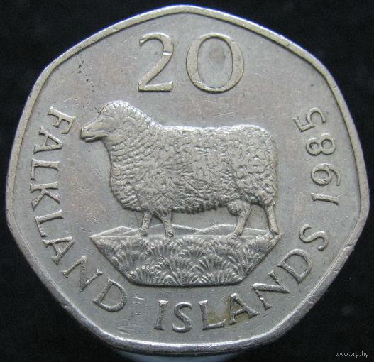 Фолклендские острова 20 пенсов 1985