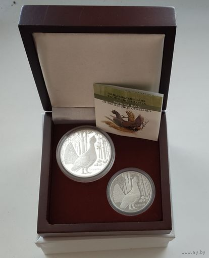 Футляр для 2-х монет 20 рублей и 10 рублей d=44 mm и 37 mm деревянный