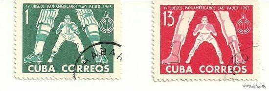Спорт. Серия 2 марки 1963 Куба