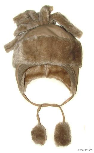 Супер теплая зимняя шапка на меху на 8-12 лет