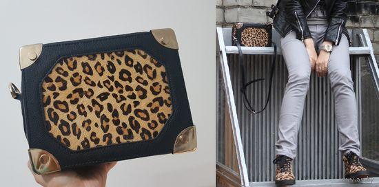 Леопардовая сумка-чемодан