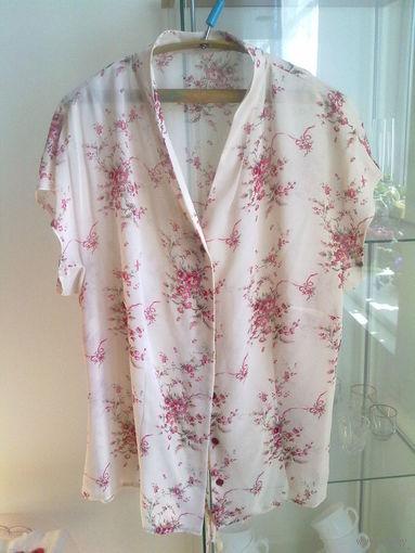 Блузка шелковая р.48-50