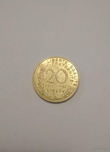 Франция / 20 сантимов / 1996 год