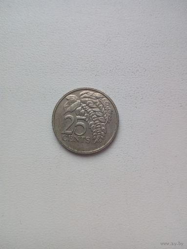 25 центов 1977г. Тринидад и Тобаго.
