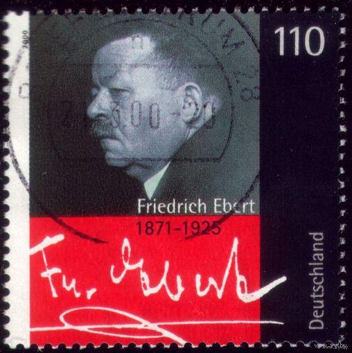 1 марка 2000 год Германия Ф.Эберт