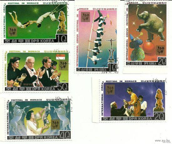 Международный цирковой фестиваль в Монако. КНДР 1987 г. (Корея)