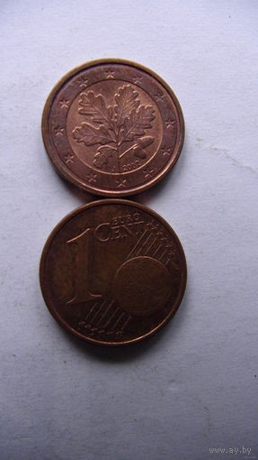 Германия 1 цент 2002г. J   распродажа