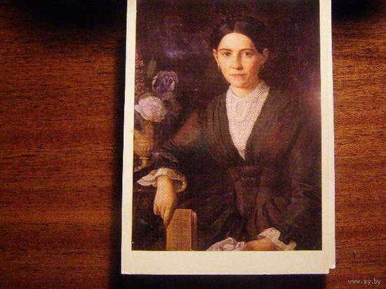 Открытка СССР 1981 Шлейфер Портрет жены